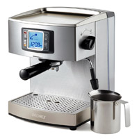 בחלק ממכונות הקפה מותקן צג lcd במקום נוריות חיווי