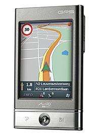 כשהמסך במצב עומד ניתן לראות יותר מהמשך המסלול שלפני הנהג