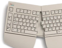 מקלדת ארגונומית מיועדת בעיקר למשתמשים המרבים להקליד טקסטים או לבעלי בעיות אורתופדיות