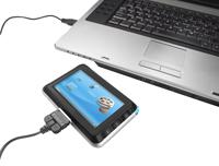 הסוללות נטענות באמצעות חיבור USB על ידי המחשב או רשת החשמל