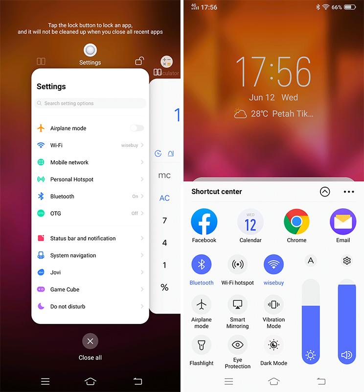 Vivo V15 Pro: מסך נטו