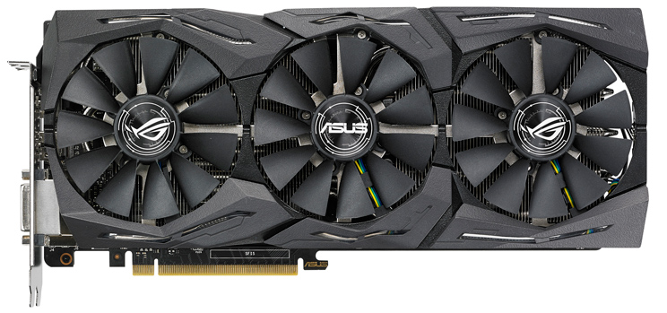 Asus ROG Strix GeForce GTX 1080 OC edition 8GB  ROG-STRIX-GTX1080-O8G-11GBPS