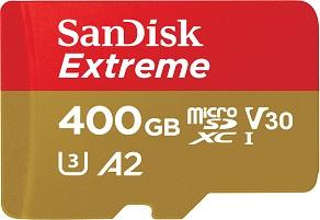 400GB בכרטיס Micro SD