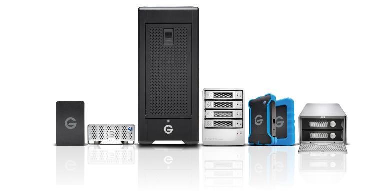 פתרונות האחסון של G-Technology
