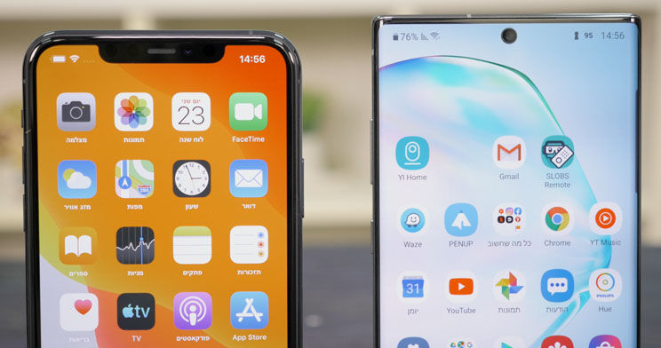 iPhone 11 Pro Max מול Galaxy Note 10 Plus