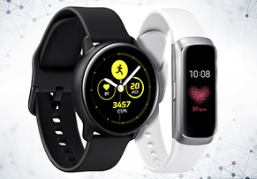 הוכרזו: -Samsung Galaxy Watch Active ו-Galaxy Fit/Fit E