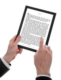 בדקו אם ניתן להגדיל ולהקטין את הטקסט, לשים סימניות ולראות את מיקומכם בספר