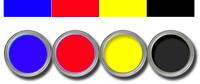 מדפסת צבע סטנדרטית כוללת שלושה צבעי יסוד ושחור