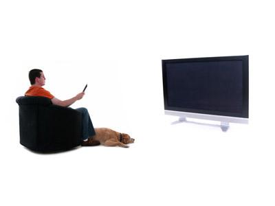 שבו מול המסך באותו מרחק בו אתם יושבים מול המסך בסלון